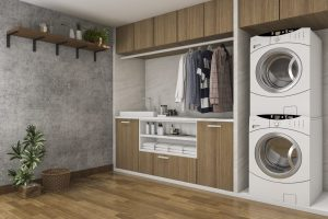 Laundry Room with Hanging Rail
